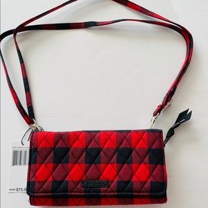 Vera Bradley Tango Red Buffalo Check Crossbody